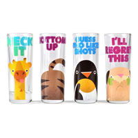 Jolly Awesome Set of 4 Shot Glasses