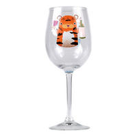 Jolly Awesome Let's Get Wild Wine Glass