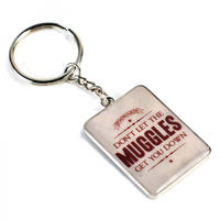 Harry Potter Don't Let The Muggles Get You Down Metal Keyring Thumbnail 1
