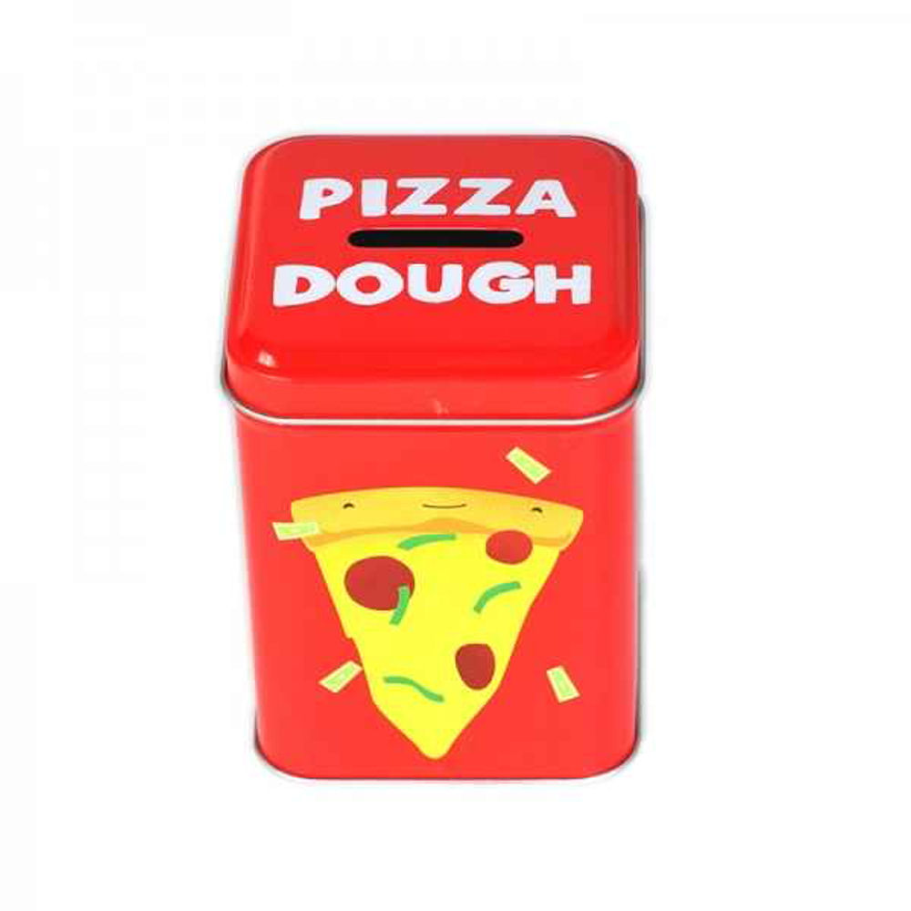 Jolly awesome pizza dough money box metal piggy bank matt for Awesome money box
