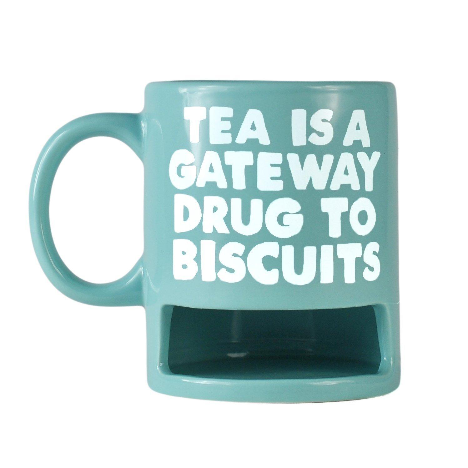 JOLLY AWESOME TEA IS A GATEWAY DRUG BISCUIT HOLDER MUG CERAMIC ...
