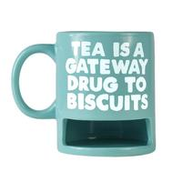 "Jolly Awesome ""Tea Is A Gateway Drug To Biscuits"" Biscuit Holder Mug"