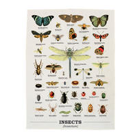 Insects Cotton Tea Towel Thumbnail 1