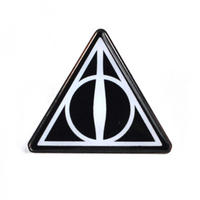 Harry Potter Deathly Hallows Sign Pin Badge Thumbnail 1