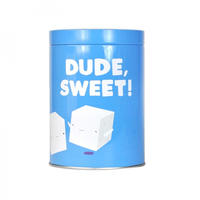 "Jolly Awesome ""Dude, Sweet!"" Sugar Cubes Tin Canister"