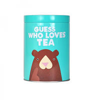 "Jolly Awesome ""Guess Who Loves Tea"" Tin Canister"