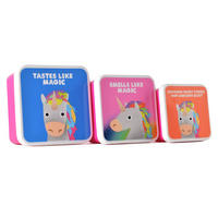 Set of 3 Jolly Awesome Unicorns Lunch Boxes