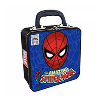 Spider-Man Mask Embossed Square Tin Tote