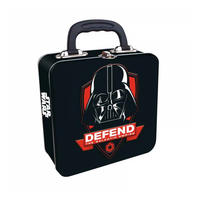 Star Wars Darth Vader Defend The Galactic Empire Embossed Square Tin Tote
