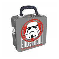 Star Wars Stormtrooper Enlist Now Embossed Square Tin Tote