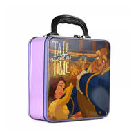 Beauty & The Beast Square Tin Tote