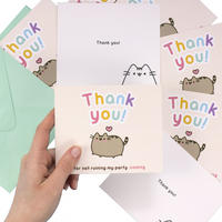 Pack of 8 Pusheen Thank You Notecards & Envelopes