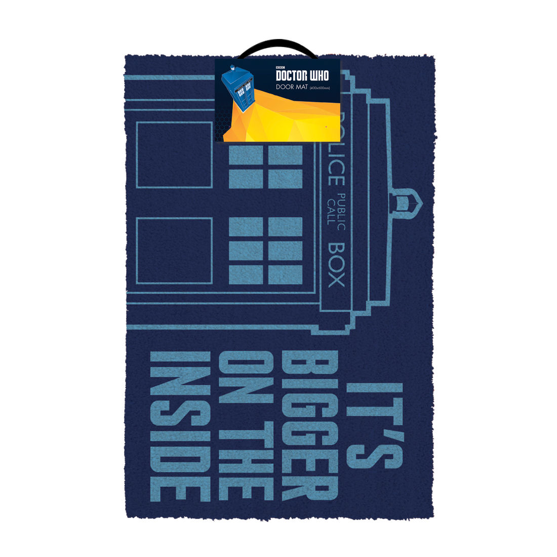 "Doctor Who Tardis ""It's Bigger On The Inside"" Door Mat"