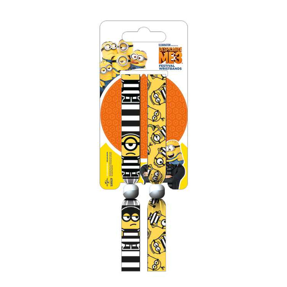 Despicable Me Breakout Pack of 2 Festival Wrist Bands