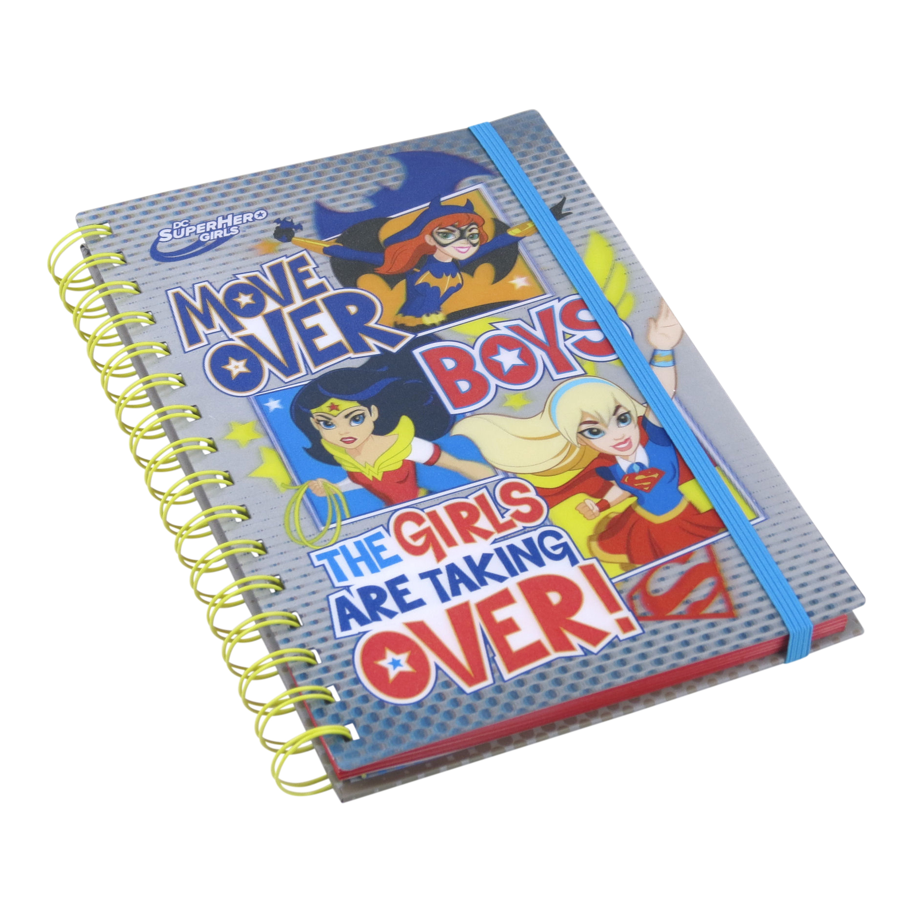 "DC Super Hero Girls ""Move Over Boys"" A5 Notebook"