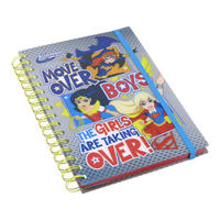"DC Super Hero Girls ""Move Over Boys"" A5 Notebook Thumbnail 1"