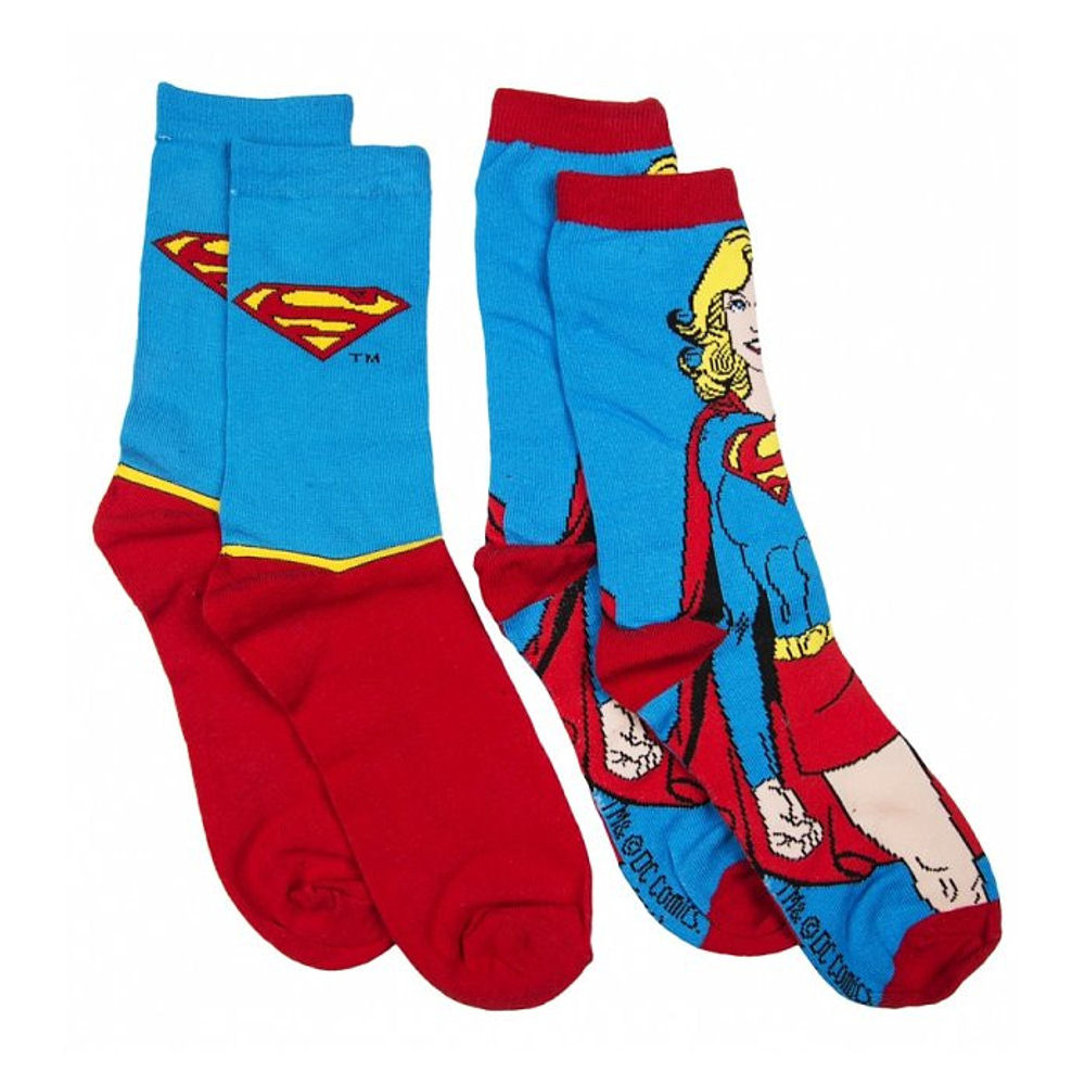 Supergirl 2 Pack of Ladies Socks