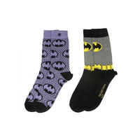 Batgirl 2 Pack of Ladies Socks Thumbnail 1