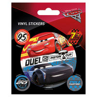 Cars 3 Duel for the Piston Cup Sheet of Vinyl Stickers Thumbnail 1