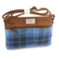 Harris Tweed Pale Blue Castle Bay Tartan Handbag Thumbnail 1