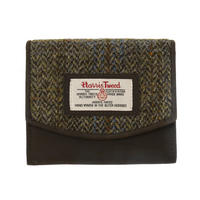 Small Harris Tweed Beige & Blue Carloway Tartan Purse Thumbnail 1