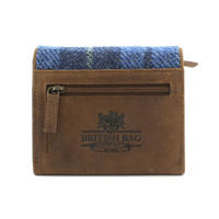 Small Harris Tweed Pale Blue Castle Bay Tartan Purse Thumbnail 2