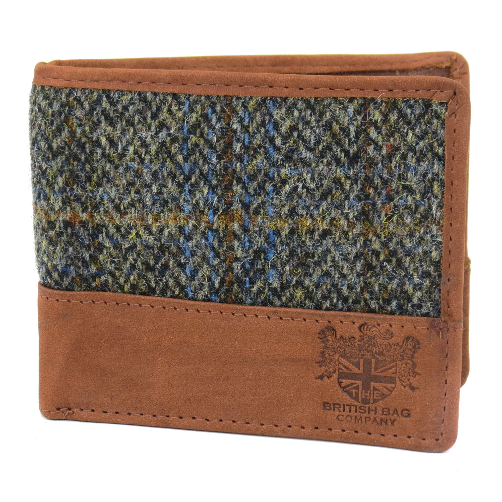 Harris Tweed Beige & Blue Carloway Tartan Wallet