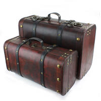 Set of 2 Wooden Suitcases Thumbnail 2