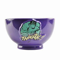 The Incredible Hulk Embossed Ceramic Bowl