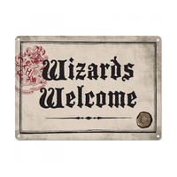 Harry Potter Wizards Welcome A5 Steel Sign
