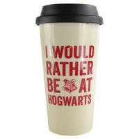 Harry Potter I Would Rather Be At Hogwarts Plastic Travel Mug Thumbnail 2