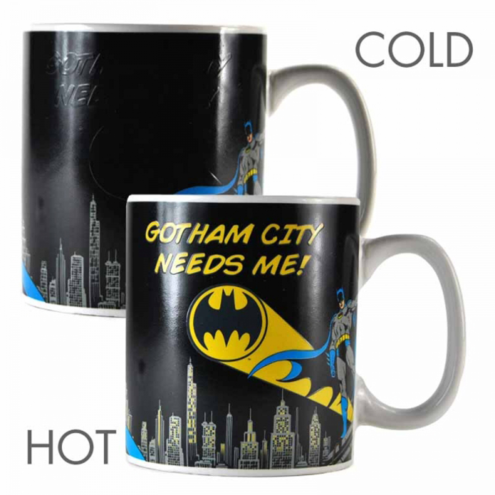 "Batman ""Gotham City Needs Me"" Heat Change Mug"