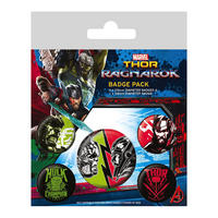 Thor Ragnarok Badge Set