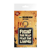 "The Walking Dead ""Fight The Dead Fear The Living!"" PVC Keyring"