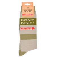 Dad's Army Striped Don't Panic Pair Of Mens Socks Thumbnail 1