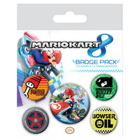 Mariokart Badge Set