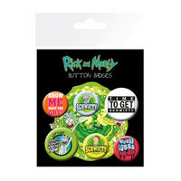 Rick & Morty Badge Set