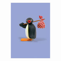 Pingu Carrying His Knapsack Greeting Card
