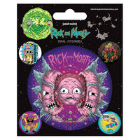 Rick & Morty Psychedelic Visions Sheet of Vinyl Stickers