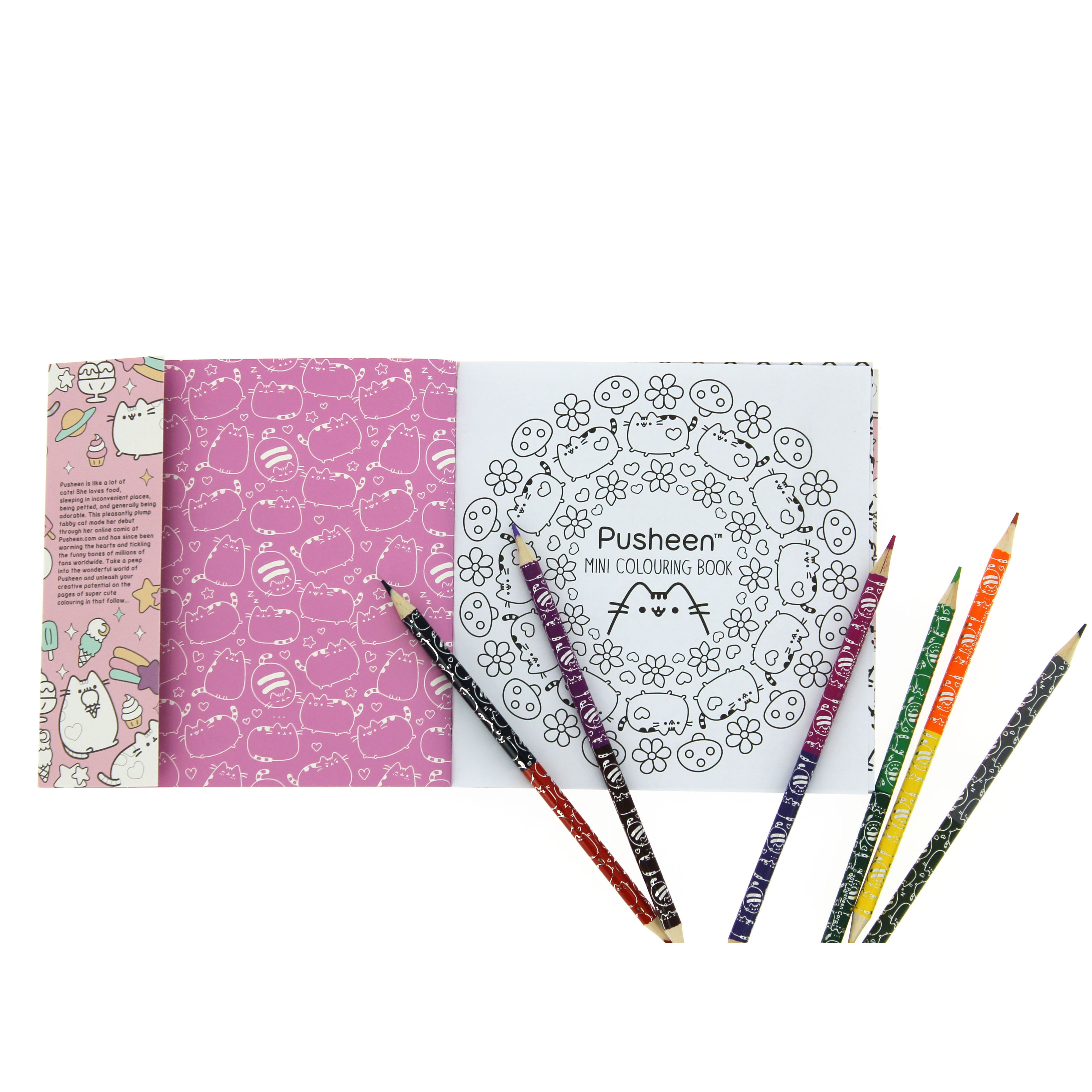 Pusheen Colouring Book Travel Set | Pens & Pencils | KitschaGoGo
