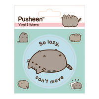 Pusheen So Lazy Can't Move Sheet of Vinyl Stickers