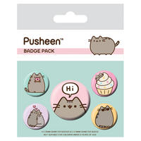 Pusheen Says Hi Badge Set