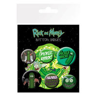 Rick & Morty Pickle Rick Badge Set