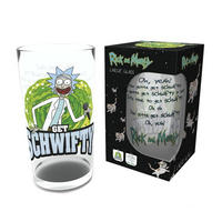 Rick & Morty Get Schwifty Large Glass