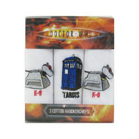 Doctor Who K-9, Tardis, K-9 Pack of 3 Hankies
