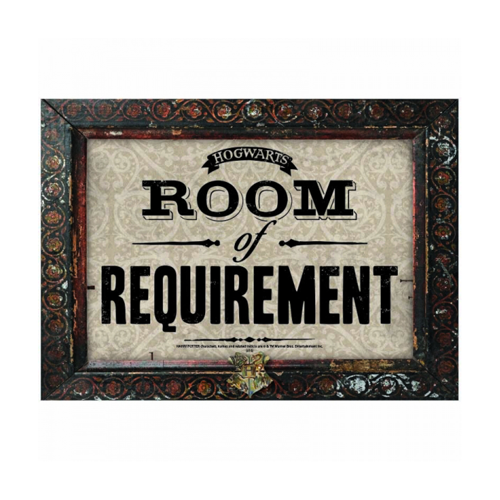 Harry Potter Room of Requirement A3 Large Steel Sign