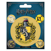 Harry Potter Hufflepuff Crest Sheet of Vinyl Stickers