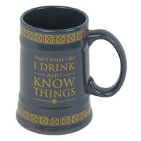 "Game of Thrones ""I Drink And I Know Things"" Ceramic Stein"