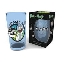 Rick & Morty Let's Get Wrecked Premium Large Glass