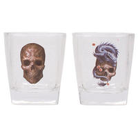 Anne Stokes Oriental Skull & Dragon Set Of 2 Tumblers Thumbnail 1